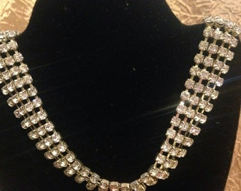 Beautiful Clear Rhinestone Adjustable Necklace