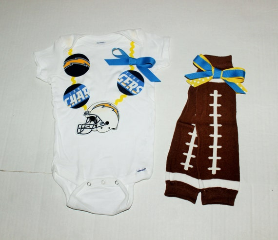 Girl San Diego Chargers Onesie Nfl Necklace Onesie By Rylowear