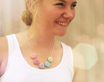 Pastel Flower Necklace