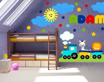 Wall Decals For Childrens Bedroom   Cutey Express!   Train Wall Decal    Personalized Train