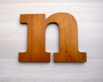 Vintage wood letter from 1980s