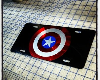 Captain America Custom License Plate