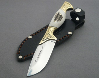 Custom Handmade Hunting Knife with polished blade