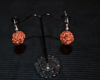 Amber Sphere Earrings