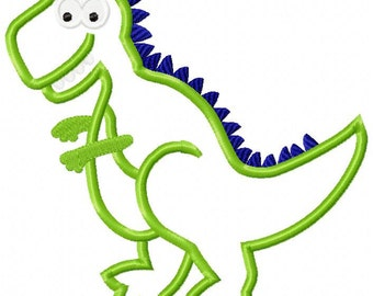 Dinosaur T-Rex Machine Embroidery Design