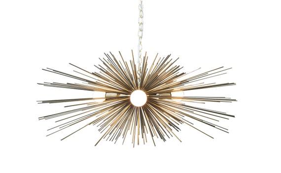 3-Bulb Gold Urchin Chandelier