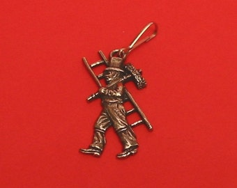 Chimney Sweep Motif Zipper Pull Good Luck Wedding Gift