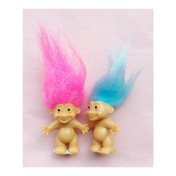 Tasche Größe Russ Troll Dolls Neon Behaart Troll 80er