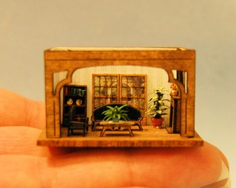 1/144th inch scale miniature-Victorian Style Room box