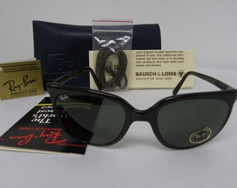 New Vintage B&L Ray Ban Cats 1000 Brown G-15 L0119 Sunglasses usa