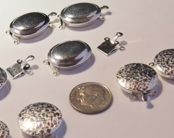 Nickel free silver tone necklace or bracelet clasps for jewelry.
