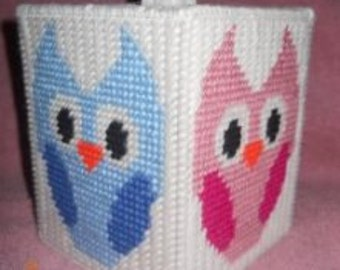 Owl Tissue Box Cover Plastic Canvas Pattern