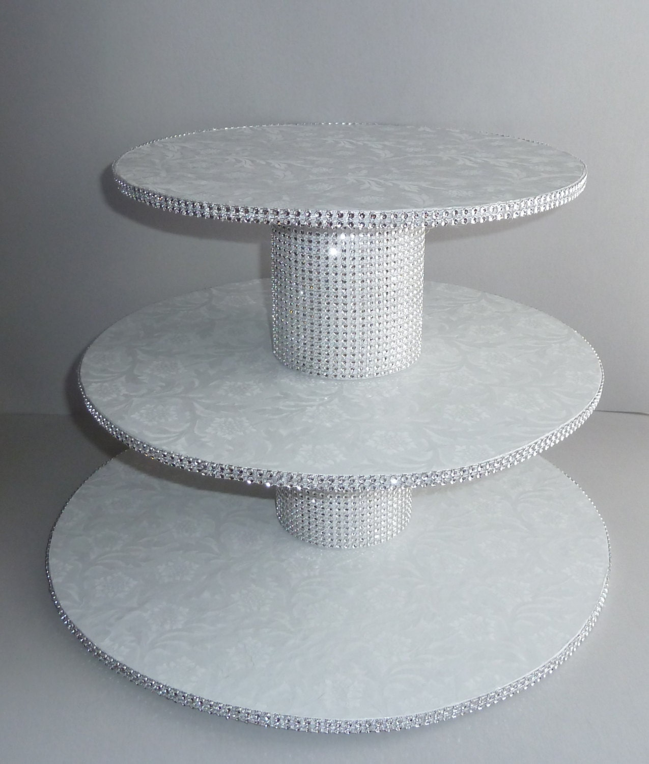 tier bling white wedding cake cupcake stand tower display