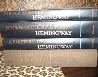 4 Books Ernest Hemingway Farewell to Arms For Whom the Bell Tolls The Sun Also Rises Short Stories
