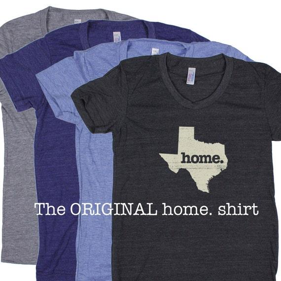 Texas home t shirt womens cut american apparel tri blend for T shirt screen printing dallas tx