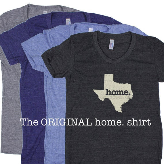 Texas Home T Shirt Womens Cut American By Homestateapparel