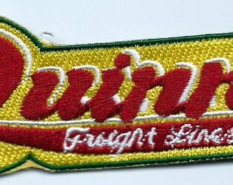 Quinn Freight Lines. truck driver patch 1-1/8 in dia X4-1/8X1-1/8 in