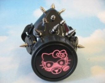 Cyber Gas Mask Kitten Respirator with spikes