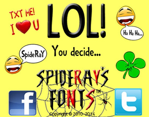 LOL commercial font