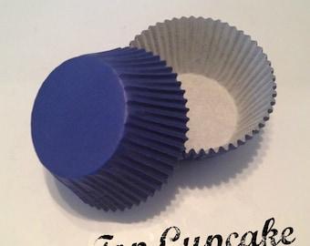 Sapphire / Medium  Blue Cupcake Liners