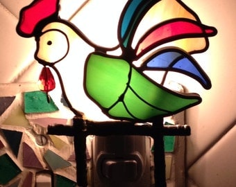 Rooster night light/ Sun Catcher