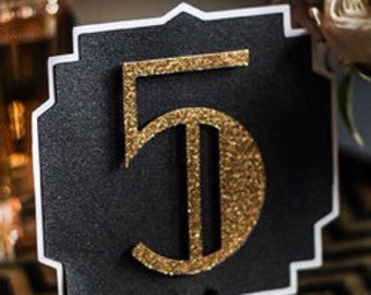 The Great Gatsby Wedding Table Numbers