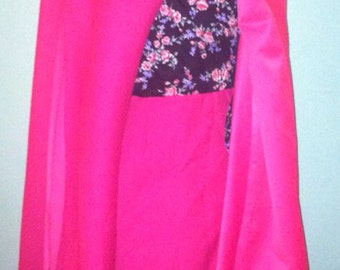 Gorgeous 60s vintage wrap dress with amazing cape