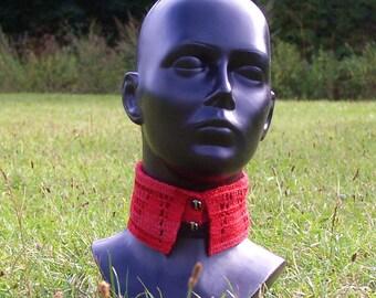 collar /crochet/summer/removable/Kragen/cotton/accessoires/warm/red, black/Baumwolle/ajour/decorated/Hand gehäkelt/charming by Elenamoda