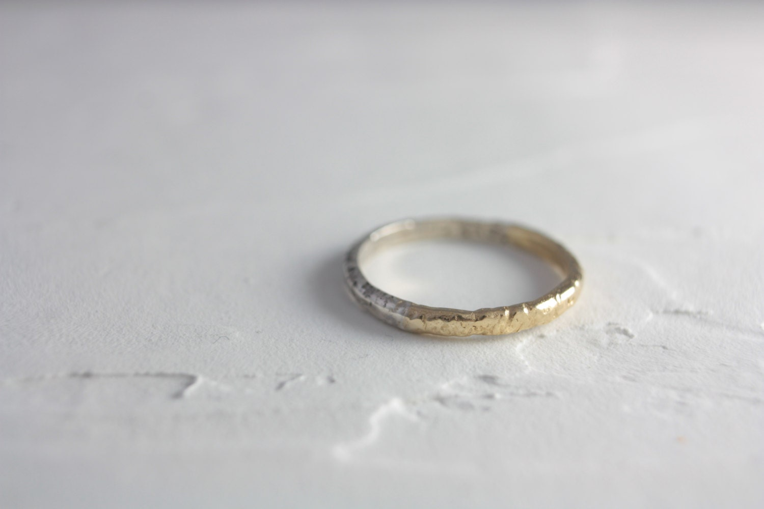 sterling silver gold simple ring silver ring gold ring