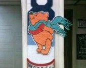 Bear doorknob hanger personalized with candy cup