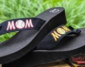 Softball Mom Baseball Mom Flip Flops