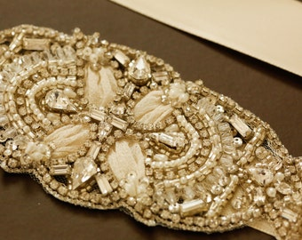 Wedding dress embellished sash - Cedro