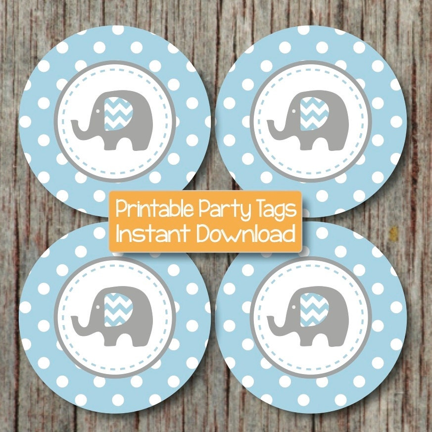 Printable Elephant Cake Toppers