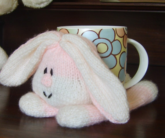 Knitting Pattern For Mug Holder : KNITTING PATTERN - Rabbit Table Placemat and Cup Holder ...