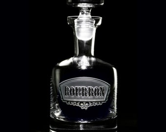 Engraved Bourbon Decanter