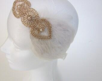 1920s Headpiece Gatsby Headband Flapper Style Great Gatsby Art Deco 1920s Beaded Headpiece