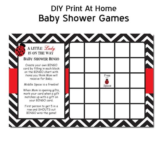 ladybug Printable Baby Shower Games - Magical Printable
