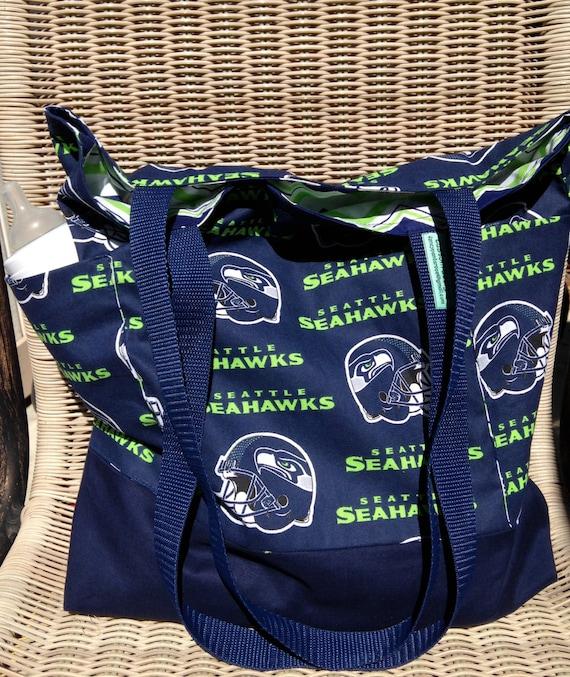 Seattle Seahawks Diaper Bag Custom Tote Bag Purse Football