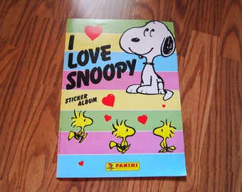 YEAR END CLEARANCE Vintage 1986 I Love Snoopy Sticker Album