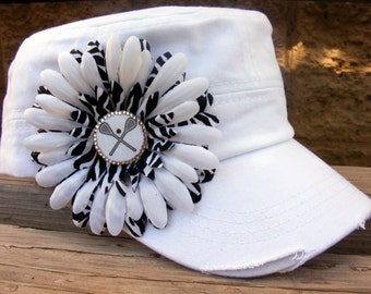Lacrosse MOM Hat- Can be done in your childs team school colors