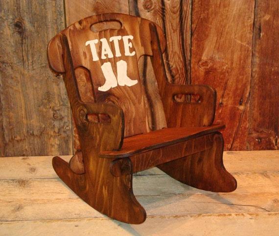 Rocker-Rocking chair for kids, Rustic rocking chair, Wooden rocking ...