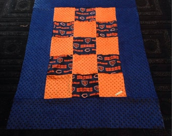 Chicago bears lap blanket- ready to ship!!
