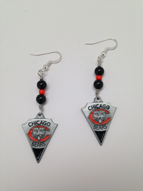 handmade jewelry chicago items similar to chicago bears handmade sports earrings 5421