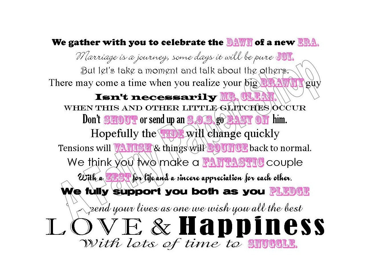 Cleaning Products Basket Poem for Bridal Shower by ...