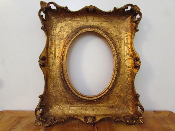 Large Gold Frame Mirror: Vintage Rococo Frame Ornate Gold Frame Large Wooden Frame
