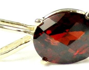 Mozambique Garnet, 14KY Gold Pendant, P002