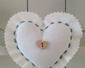 Reserved for Louise Pink Ditsy Heart Garland Bunting
