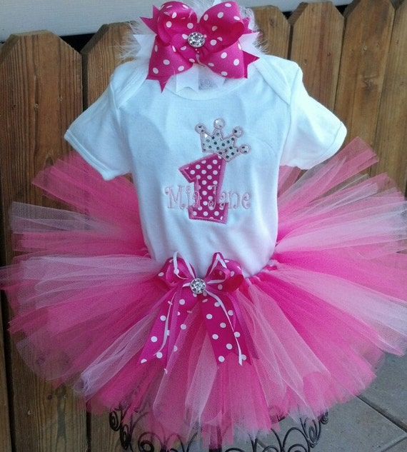 Princess First Birthday Tutu Outfit By TrueBlueTouchLAB On