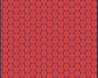 Half yard - 1/2 yard - Saffron - Oval Elements by Art Gallery