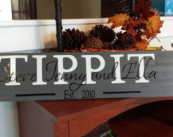 Personalized Family Name Plaque with Established Date